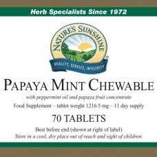 Papaya Mint Chewable (Kramtomoji papaja su mėta)